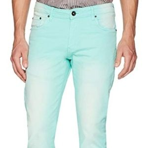 WT02 Color skinny denim Mint Green Jeans 34x30